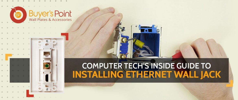 Installing Ethernet Wall Jack
