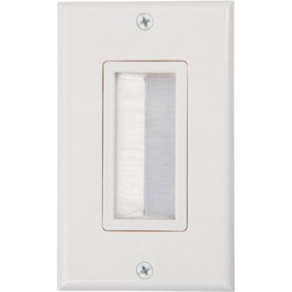 Brush Wall Plates White