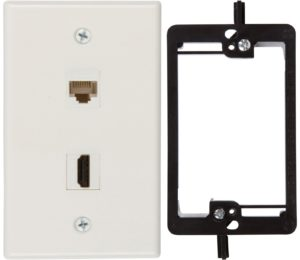 HDMI and Cat6 Ethernet Wall Plate