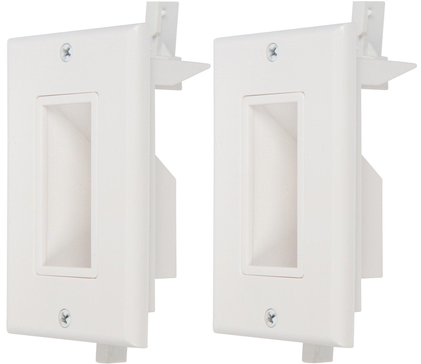 Buy Recessed Low Voltage Cable Wall Plates With Bottom Openings Audio Wiring Clean Install