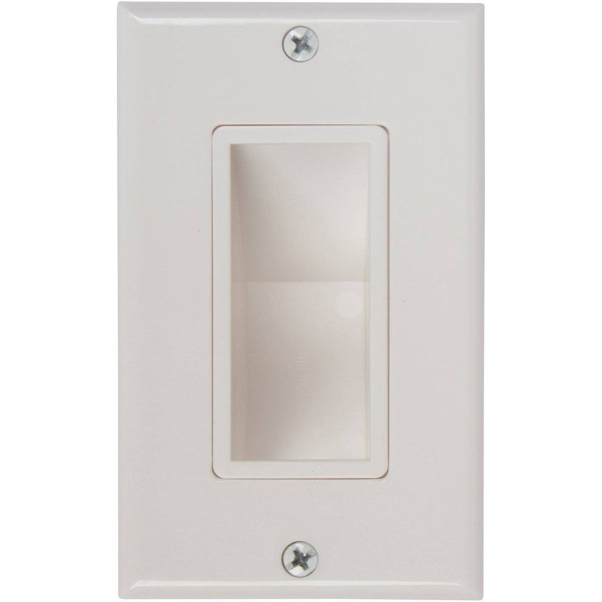 Buy Recessed Low Voltage Cable Wall Plates With Bottom Openings Audio Wiring Key Benefits Of Our Plate