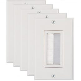 Buyer's Point Brush Wall Plate, Decora Style, ((5 Pack) White)