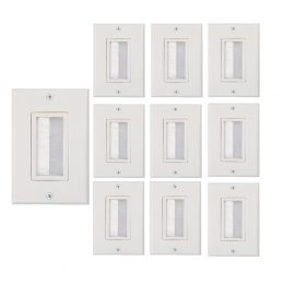 Buyer's Point Brush Wall Plate, Decora Style, ((10 Pack) White)