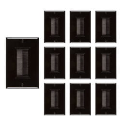 Buyer's Point Brush Wall Plate (10 Pack) Black