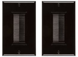 Buyer's Point Brush Wall Plate (2 Pack) Black