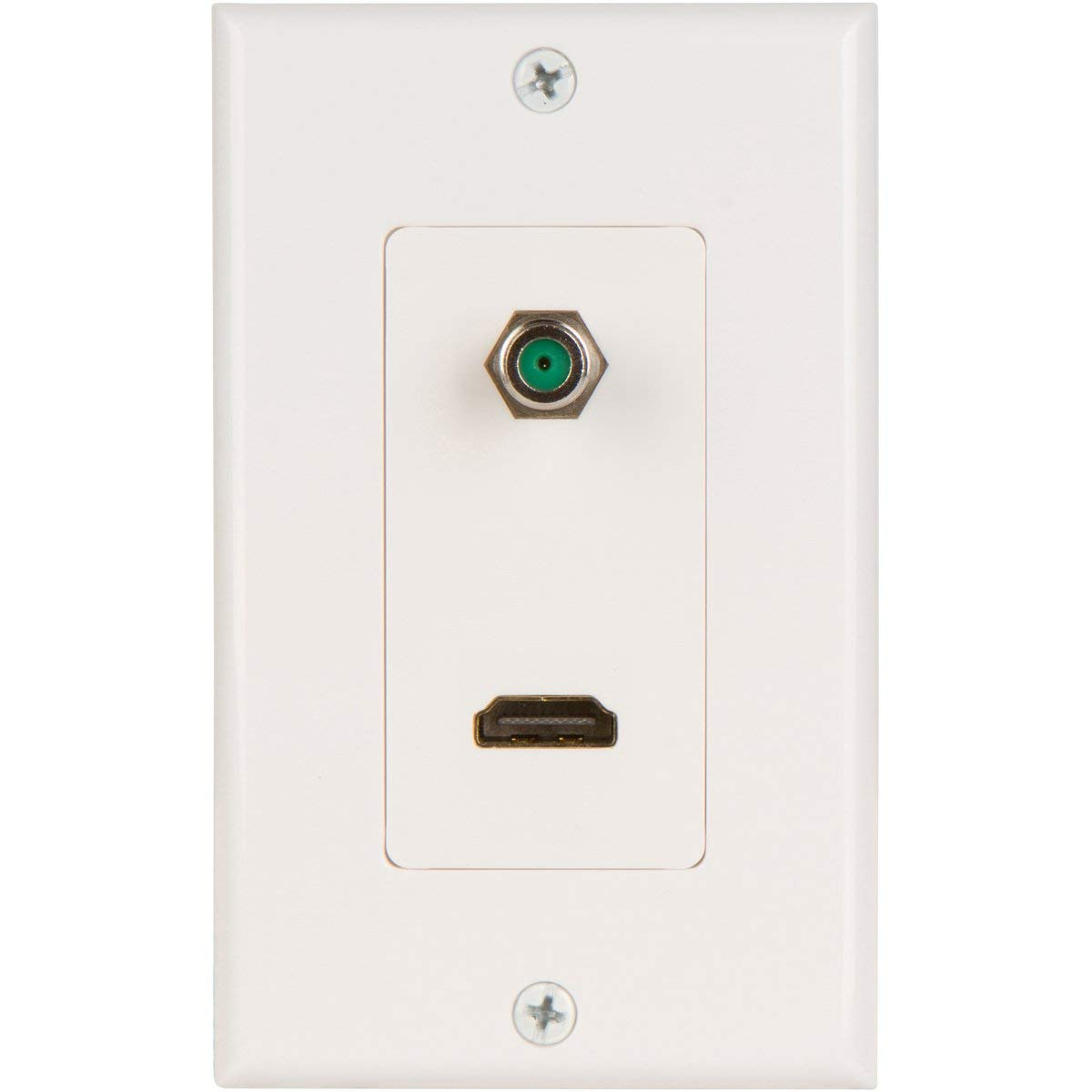 Buyers Point Hdmi Pigtail 3ghz Coax Wall Plate With Single Gang Low Poin Ethernet Jack Wiring Easy To Install