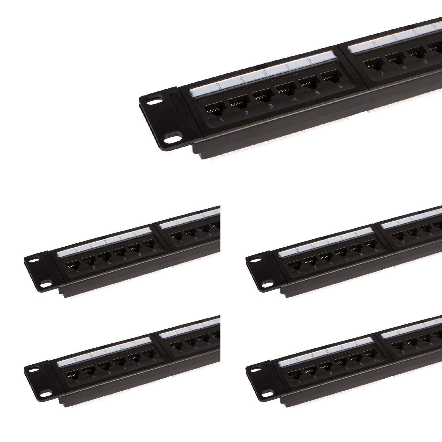 24 Port Cat6 Patch Panel With Punch Down Tool And Cable